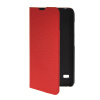 MOONCASE Slim Leather Side Flip Wallet Card Slot Pouch with Kickstand Shell Back чехол для Huawei Ascend Y550 Red protective pu pc flip open case cover for ipad mini blue