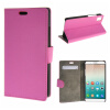 MOONCASE ЧЕХОЛДЛЯ Huawei Honor 7i Premium PU Flip Leather Wallet Card Holder Bracket Back Pouch Hot pink 01 velcro business card lanyard pu leather for huawei honor 8 pro