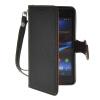 MOONCASE Лич кожи Кожа держатель карты бумажник чехол с Kickstand чехол для Sony Xperia Z1 Compact (Mini ) черный чехол вертикальный откидной для sony xperia z1 compact mini красный armorjacket