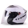 Mustang (Yema) 625 двойной объектив мотоциклетный шлем зимний шлем половина шлем электрический автомобиль мужчины и женщины Four Seasons Общие Размер Белый мото шлем mustang 619