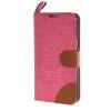 MOONCASE Denim Style Flip Wallet Card Pouch Bracket Back чехол для Cover Samsung Galaxy S5 Mini ярко розовый чехол для samsung galaxy s5 printio череп художник