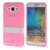 MOONCASE Galsxy E5 Дело Желе Цвет силиконовый гель ТПУ Тонкий с подставкой обложка чехол для Samsung Galsxy E5 розовый flir e5