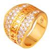 U7 Золотое кольцо Мужчины ювелирные изделия с роскошной AAA Цирконий высокого качества 18-каратного желтого золота Заполненные Мужская мода Обручальное кольцо 2015 кольцо jv женское золотое кольцо с бриллиантами и ониксами r21180 ox wg 18