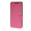 MOONCASE Ultra thin matte surface Leather Wallet Flip Card Slot Holster Pouch Stand Back чехол для HTC One M9 Hot pink