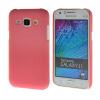 MOONCASE Жесткий Прорезиненные Резина Оболочка Вернуться Защитная крышка чехол для Samsung Galaxy J1 розовый