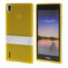 MOONCASE Huawei Р7 Дело Желе Цвет силиконовый гель ТПУ Тонкий с подставкой обложка чехол для Huawei Ascend P7 желтый liberty project чехол флип для huawei ascend p7 black