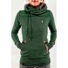 цена Мода капюшоном с длинными рукавами с капюшоном свитер вышитые карман онлайн в 2017 году