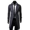 Мужская тонкий стильный пальто Зимние длинный жакет новый Двойной Брестед Шинель