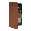 MOONCASE Slim Leather Side Flip Wallet Card Slot Pouch Stand Shell Back ЧЕХОЛ ДЛЯ Nokia Lumia 830 Brown alex большой набор мой первый набор для шитья