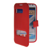 MOONCASE View Window Leather Side Flip Pouch Hard board Shell Back чехол для Samsung Galaxy Note 2 N7100 Red mooncase soft silicone gel side flip pouch hard shell back чехол для samsung galaxy s6 black