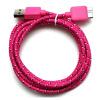3ft 6футов 10ft красочные убраны микро - USB 3.0 данные субтитры зарядного устройства, кабель для Samsung Galaxy S5 примечание 3