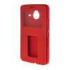 MOONCASE Сторона Флип жесткий борт тонкий кожаный кронштейн Окно чехол для Microsoft Lumia 640 XL красный смартфон micromax q354 черный 5 8 гб wi fi gps 3g