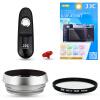 JJC FM1E Fuji X100T X100F камера аксессуар комплект стекло тень с 49mm пленкой + + УФ-фильтр адаптер электронный затвор + кнопка затвора пыле затвор jjc jm r x t1 x e2 x m1 x a1 xq1 s1