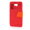 MOONCASE View Window Leather Side Flip Pouch Ultra Slim Shell Back ЧЕХОЛДЛЯ HTC Desire 516 D516W Red аксессуар чехол накладка htc desire 516 activ silicone red mat 45818
