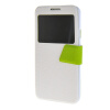 MOONCASE Galaxy Note 3 Neo N7505 ,Window Design Leather Side Flip ЧЕХОЛ ДЛЯ Samsung Galaxy Note 3 Neo N7505 White Green printio чехол для samsung galaxy note