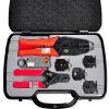 Sanbao (Sanbao) HT-330K Набор инструментов BNC коаксиальный терминал обжимные клещи для опрессовки видеомонитор волнистыми набор инструментов