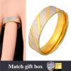 U7 316 Кольцо из нержавеющей стали для мужчин Ювелирные изделия Женщины Новый 2016 Модные 18K позолоченный Недвижимость Круглый Золотой обручальные кольца Обручальное кольцо