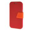 MOONCASE Galaxy J1 , Leather Flip Bracket Back ЧЕХОЛ ДЛЯ Samsung Galaxy J1 Red Orange dekker для samsung galaxy j1 2016 red