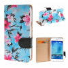 MOONCASE Samsung Galaxy J5 ЧЕХОЛ ДЛЯ Flower Style Leather Flip Wallet Card Slot Bracket Back Blue