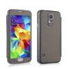 Mooncase стильный Flip кожаный бумажник держатель карты почты назад дело прикрытие для Samsung Galaxy S5 i9600 грей держатель для мобильных телефонов samsung s5 i9600