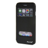 MOONCASE Apple iPhone 6 ( 4.7 inch ) чехол Double Window View Leather Flip Bracket Back чехол Cover Black roar korea noble leather view window stand cover for iphone 7 4 7 inch champagne