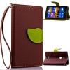 MOONCASE [оставляет магнитных] ремешок на запястье флип - пу - кожаный бумажник карту почты от назад дело прикрытия Nokia Lumia 925