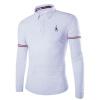 Zogaa embroidery мужской рубашки S очень длинный рукав рубашка lacoste ch9628001t