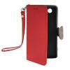 все цены на  MOONCASE Лич кожи Кожа держатель карты бумажник чехол с Kickstand чехол для Sony Xperia Z3 Compact (Z3) Красный Mini  онлайн