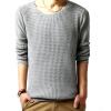 Мужчины Повседневная шею вязать свитер Мода свитер Трикотаж Пальто Топы Jumper