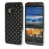 MOONCASE HTC One М9 Футляр Роскошные Chrome горный хрусталь Bling Звезда Вернуться Дело Чехол для HTC One M9 Черный htc one в рассрочку дешево