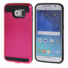 MOONCASE ЧЕХОЛДЛЯ Samsung Galaxy S6 Soft Silicone Gel TPU Skin With Card Holder Protective Hot pink