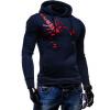 CT&HF Мужчины Мода Движение руно Красивый Личность контракту куртка Чистый хлопок Печатный руно зимнего отдыха плотной сыпучих руно