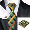 2016 Новый горячий продавая Vogue Мужчины шелковый галстук Установить Высокое качество 100% шелковый галстук носовой платок запонки Набор для формальной свадьбы Бизнес