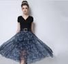 Lovaru ™2 015 станций осень новых мужчин юбки нерегулярные шифон цветы талии Тонкий юбки