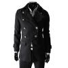 CT&HF Мужчины Темперамент Элегантный Пальто Pure Color шерстяные пальто лацканы Классический двубортный пиджак Зима утолщение тонкий пальто