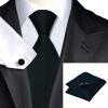 Vogue Мужчины шелковый галстук Галстук Установить носовой платок Запонки наладить связи для мужчин Формальное Свадебное Бизнес оптовой