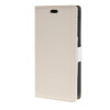MOONCASE Litch Skin Leather Card Slot Wallet Bracket Back чехол для HTC Desire 320 D320 White htc desire 320 8gb dark gray