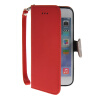 MOONCASE Litch Skin Leather Side Flip Wallet Card Slot Pouch Stand Shell Back ЧЕХОЛ ДЛЯ Apple iPhone 6 Plus Red floveme retro genuine leather wallet pouch for iphone 6s plus 6 plus etc coffee