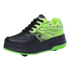 Мужчины Мальчик Авто двойного колеса роликовый обуви коньки катание Спортивное Узелок плоским тапки коньки onlitop 223f 37 40 blue 806164
