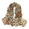 Vanker Леопард Пантера Печать Сращивание Дизайн шифон Soft пашмины шарф платок платок шарф белый купить москва