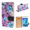 MOONCASE for Samsung Galaxy J5 ЧЕХОЛ Flower Style Leather Flip Wallet Card Slot Bracket Back ЧЕХОЛ ДЛЯ Purple