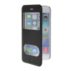 MOONCASE View Window Leather Side Flip Pouch Stand Shell Back ЧЕХОЛДЛЯ Apple iPhone 6 ( 4.7 inch ) Black mooncase view window leather side flip pouch stand shell back чехолдля apple iphone 6 plus white