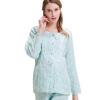 Беременные хорошее время марли месяц обслуживания беременных женщин пижамы Буру Yi кормления одежда для беременных Y861506 синий M