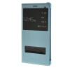 MOONCASE тонкий кожаный флип сторона Кронштейн Окно чехол для Huawei Ascend P8 Max синий