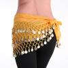 mymei женщин золотые металлические монеты талии цепи, танец живота - шарф пояса юбки цепи