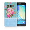 MOONCASE Flowers Soft Flexible Silicone Gel TPU Skin Shell Back ЧЕХОЛ ДЛЯ Samsung Galaxy A5 mooncase s line soft flexible silicone gel tpu skin shell back чехол для htc one m9 blue
