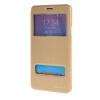 MOONCASE Samsung Galaxy Note 4 чехол для View Slim Leather Flip Pouch Bracket Back Cover Gold чехол клип кейс samsung protective standing cover great для samsung galaxy note 8 темно синий [ef rn950cnegru]