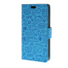 MOONCASE Magic Girl lovely Flip Pouch Card Holster PU Leather Wallet чехол для HTC Desire 320 Blue htc desire 320 8gb dark gray
