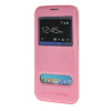 MOONCASE Samsung Galaxy S6 Edge чехол для View Leather Flip Pouch Bracket Back Cover Pink mooncase litchi skin золото chrome hard back чехол для cover samsung galaxy s6 edge красный