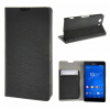 MOONCASE Sony Xperia Z3 Compact ( Z3 Mini ) ЧЕХОЛ ДЛЯ Flip Leather Wallet Card Holder Bracket Back Pouch Black чехол deppa air case для sony xperia z3 розовый 83140